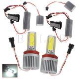 H8 36W COB LED Angel Eyes Bulb Halo Ring Set of 2 Silver - thumbnail 1
