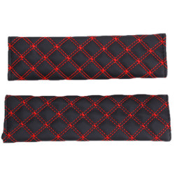 Hang-Qiao Seat Belt Cover Set of 2 (Red)