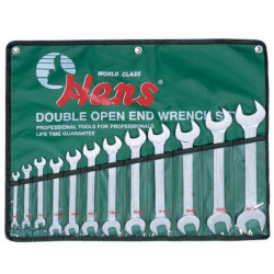 Hans Tools 16512M 12 pcs Open Wrench Set (Silver)