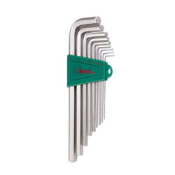 Hans Tools 16762-9A Long Arm Allen Key Wrench Set - SAE (Silver)