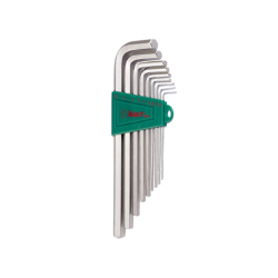 Hans Tools 16764-9A Short Arm Allen Key Wrench Set - SAE (Silver)