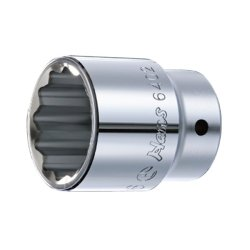 "Hans Tools 6402M-24mm 3/4"" Drive 12 Points Socket (Silver)"