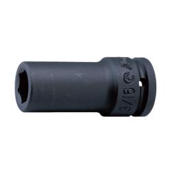 "Hans Tools 86300A-1-1/8inch 3/4"" Drive 6 Points Deep Impact Socket - SAE (Black)"