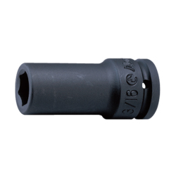 "Hans Tools 86300A-15/16inch 3/4"" Drive 6 Points Deep Impact Socket - SAE (Black)"