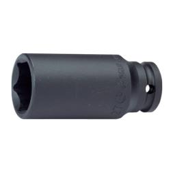 "Hans Tools 88300A-15/16inch 1"" Drive 6 Points Deep Impact Socket - SAE (Black)"