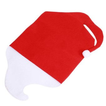 Hanyu Christmas Seat Covers Festival Decorations (White/Red)