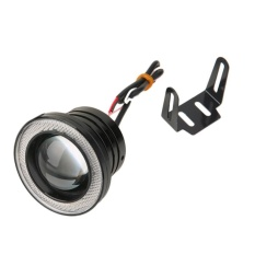 """HDL 3"""" 30W Car Angel Eye Cob Halo Ring Led Drl Projector Lens Drivinglight Blue"""