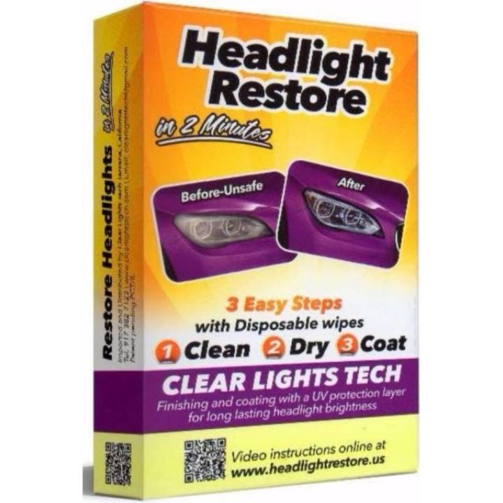 Headlight Restore Wipes