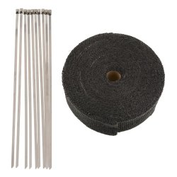 Heat Exhaust Thermo Header Turbo Wrap Tape Insulating Cloth