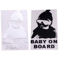 HengSong Baby On Board Universal Safety Reflective Sticker Car Accessories White
