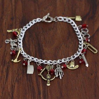 Hequ The Walking Dead Bracelet Harley quinn Bracelet Game of thrones bracelet pokemon bracelet best Christmas gift - intl