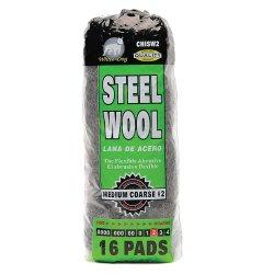 Hitech No. #2 Medium Coarse Steel Wool (Black)