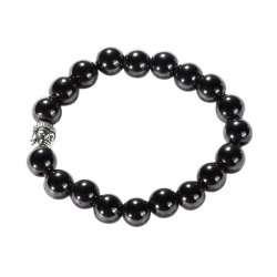 HKS Magnetic Hematite Bead Bracelet with Silver Buddha - Intl