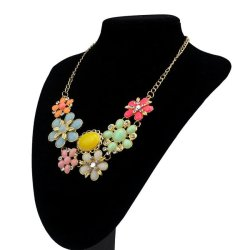 HKS Sweet Elegant Women Bohemian Necklaces Bib Choker Necklace Pendant Multicolor - Intl
