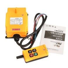 Hs-4 220v 4 Channels Industrial Hoist Crane Remote Control Button Switch System - Intl By Freebang.
