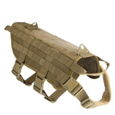 Hunting Military Tactical Patrol Dog Vest Training Harness Law Enforcement Airsoftsports Gear M - Intl By Threegold.