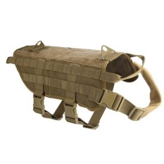 Hunting Military Tactical Patrol Dog Vest Training Harness Law Enforcement Airsoftsports Gear S - Intl By Threegold.