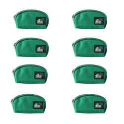 ILLUSTRAZIO Durashield Monocolor Coin Purse Set of 8 (Green)