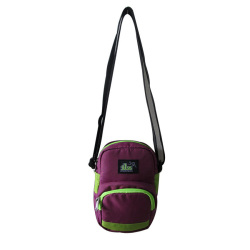 ILLUSTRAZIO High Density 420 Sling Bag (Maroon Light Green)