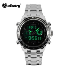 PHP 4.455. INFANTRY Mens Watches Top Luxury Full Steel Quartz Watch LED Analog Digital Sports Watches Date Army ...