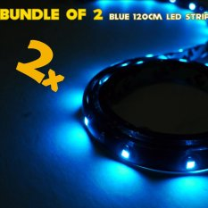 Ip68 Rated 120cm (blue) Waterproof Led Strip Tape Light (bundle Of 2) By Motozilla