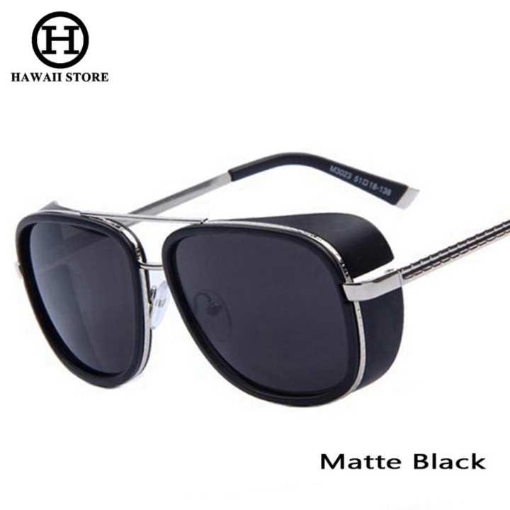 21eb4d7ca60 ... Brand Eyewear Source · HAWAII IRON MAN 3 Matsuda TONY Steampunk  Sunglasses Men Mirrored