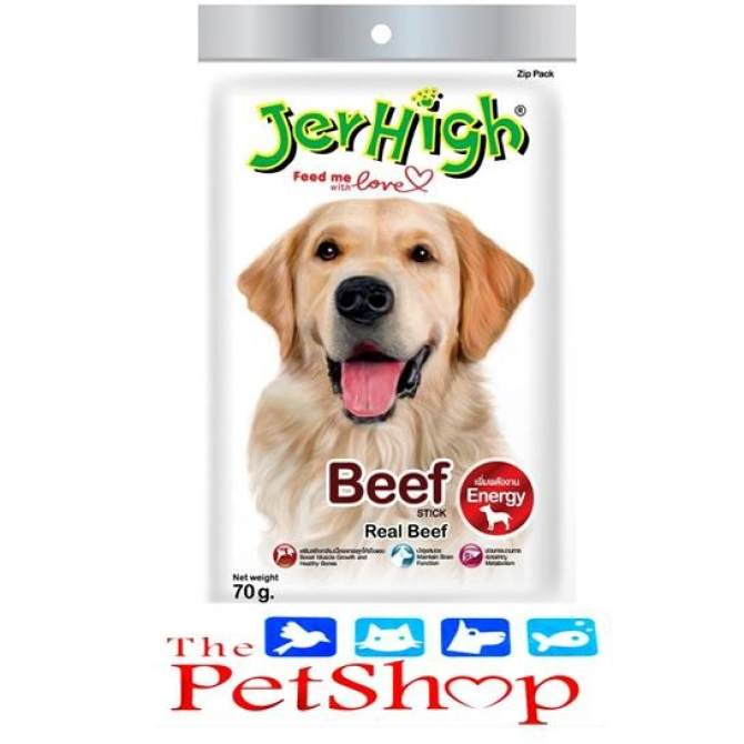 Jerhigh Treats Energy BEEF Stick (70g Real Beef)