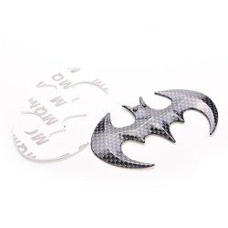 Jetting Buy 3D Bat Shaped Car Sticker carbon fiber Black