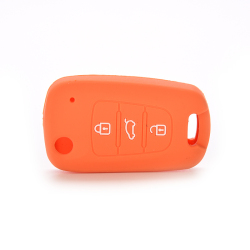 Jettingbuy Jetting Buy Car Key Case Cover Silicone For KIA Orange