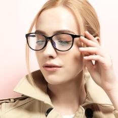 934c16193af JINQIANGUI Fashion Glasses Frame Oval Glasses BrightBlack Frame Glasses  Plastic Frames Plain for Myopia Women Eyeglasses