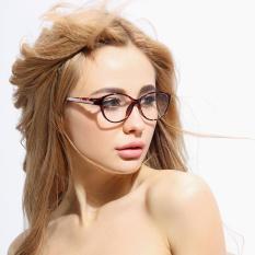67c7c1a8999 JINQIANGUI Fashion Glasses Frame Oval Glasses Leopard Frame Glasses Plastic  Frames Plain for Myopia Women Eyeglasses