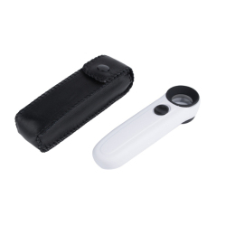 Jo.In High Power 40x Lighted Magnifying Glass Hand Held Magnifier With LED Microscope