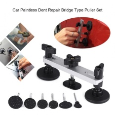 【clearance Sale】justgogo-Car Body Paintless Dent Repair Hail Removal Bridge Type Puller Set With Pulling Tabs Silver By Justgogo.