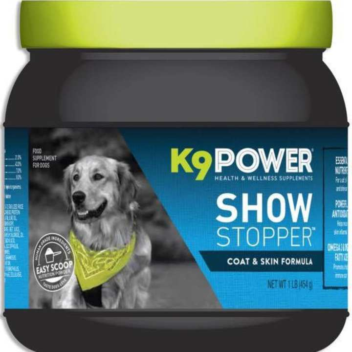 K9 power show stopper healthy dog coat skin 1lb for Show stopper equipment