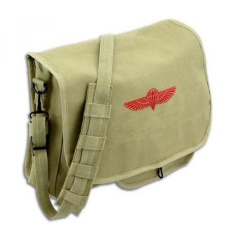 Khaki Retro Heavy Duty Canvas Israeli Paratrooper Messenger Bag with Army  Universe Pin - intl cc449611990