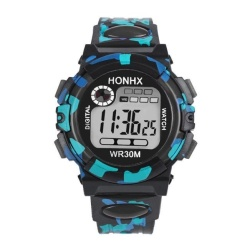 Kids Child Boy Girl Multifunction Waterproof Sports Electronic Watch Watches BK - intl