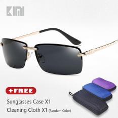 2ba679de42 KIMI Half Rim Rectangle Sunglasses Fashion Modern Design Alloy Glasses Legs  Silicone Nose Pads Brands Designer