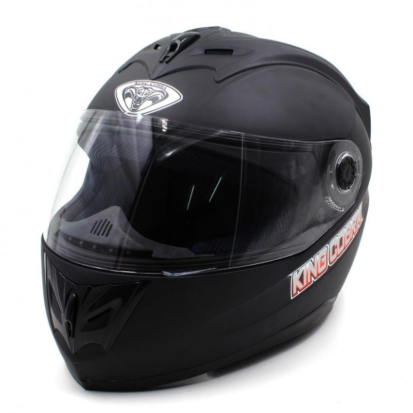 e054cf41c11 King Cobra K-691-A Full Face Motorcycle Helmet (Black)