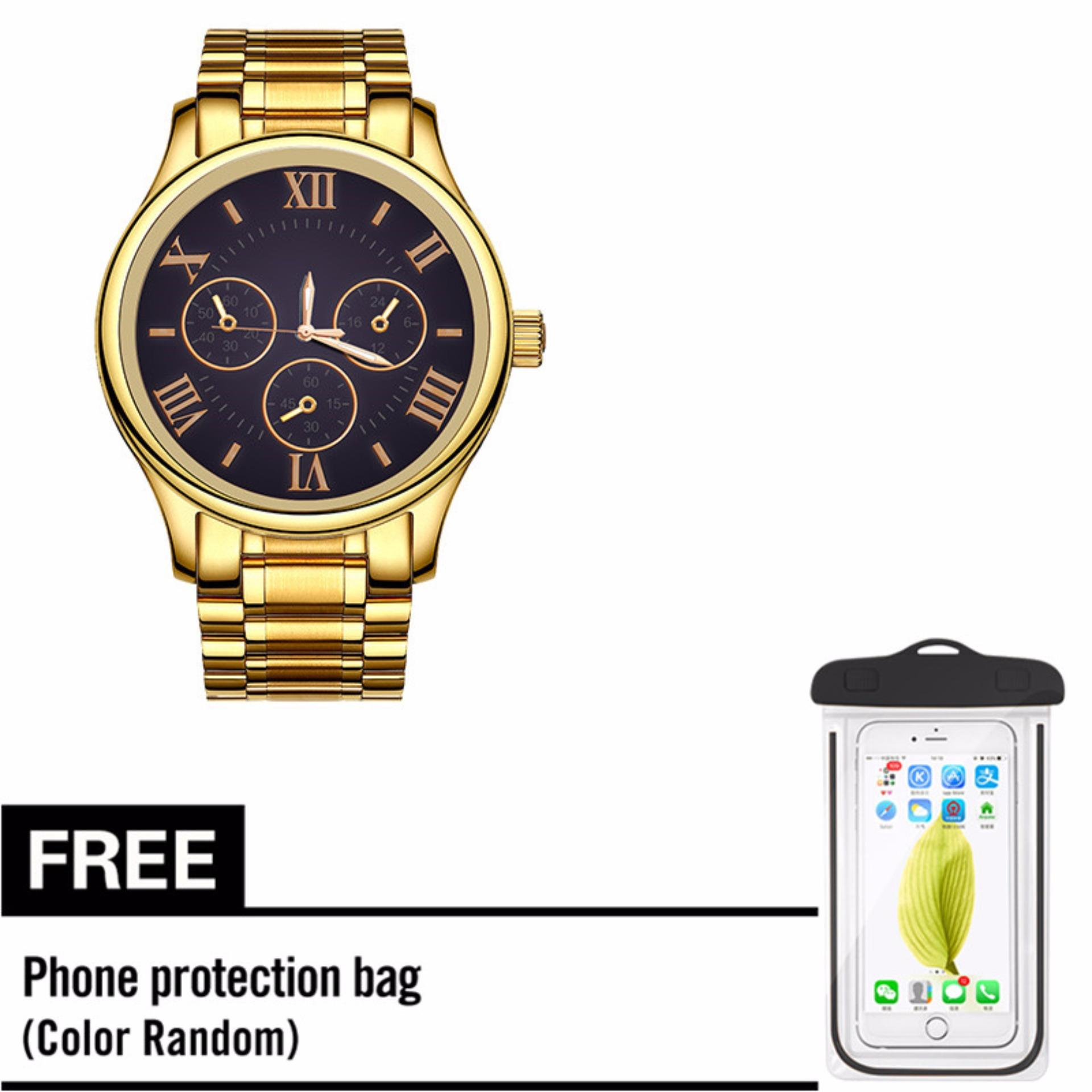 KingDo Men's Quartz Watch  with Free Smartphone Waterproof Case
