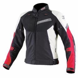 Komine JK-079 Air Stream Mesh 3D Jacket (Black/Red)