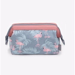 Korean Fashion Cosmetic Pouch (Flamingo)