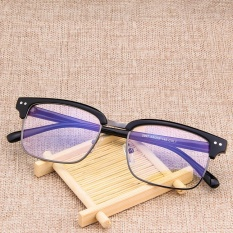 1c67452802 Korean Style Retro Men Glasses Frame Semi-metallic Box Eyeglasses Fixing  Device Fashion Frame Glasses