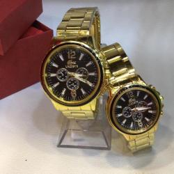 lacoste couple watch gold color