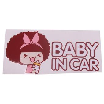 LALANG Baby in Car Safety Decal Sticker For Auto Car Brown