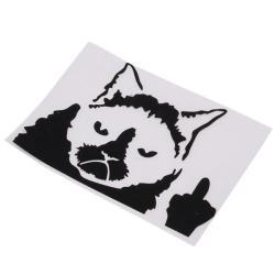 LALANG Grumpy Cat Funny Car Stickers Truck Window Decals Black