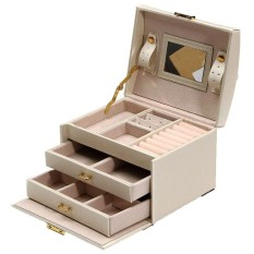 eda33e095 Large Jewellery Box Armoire Dressing Chest with Clasps Bracelet Ring  Organiser - intl