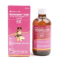 Lc Vit Syrup Multivitamins For Pets, Dogs And Cats 120ml (set Of 1) By Smooch Pooch Discount Center.