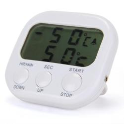 LCD Digital Timer Thermometer Alarm Cooking Kitchen (White)