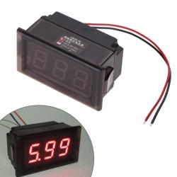 LED Voltmeter Digital Volt Meter Gauge Red