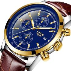 LIGE Mens Watches Top Brand Luxury Business Quartz Watch Men Fashion Leather Waterproof Casual Sports Watches - intl